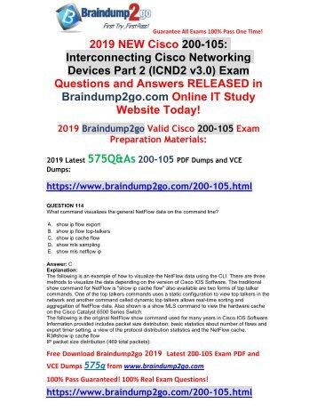 [2019-February-New]CCNA ICND2 200-105 VCE Dumps Free Download(Q114-Q124)