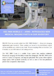 OEC 9600 Mobile C Arms X Ray System - Medical Imaging Parts & Equipment's