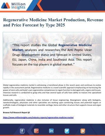 Regenerative Medicine Market Production, Revenue and Price Forecast by Type 2025