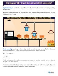 The Reason Why Email Marketing Is Still Awesome