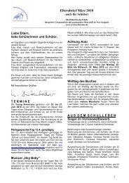Elternbrief März 2010 - Adolf Reichwein Schule