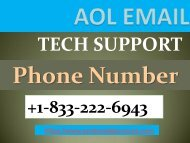 Aol email support phone number