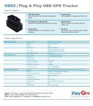OBD 2 plug GPS vehicle tracker - ZipyPro 9971154484