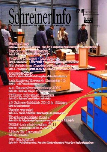 Schreiner-Info - Verband Schreiner Thurgau VSSM