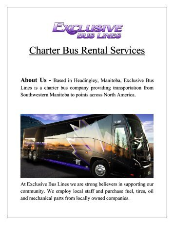 Charter Bus Rental Services