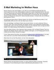 E-Mail Marketing im Weißen Haus