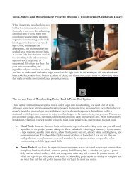 Tools, Safety, And Woodwork Projects