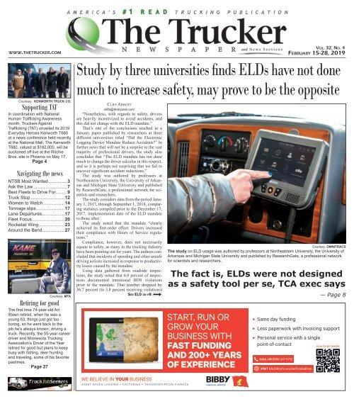 The Trucker Newspaper - February 15, 2019