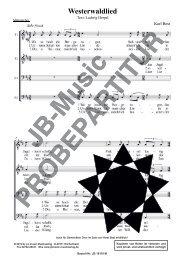 Westerwaldlied (für Männerchor TTBB)