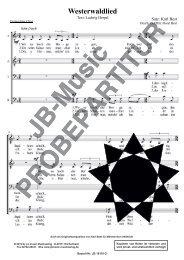 Westerwaldlied (für Gemischten Chor SATB)