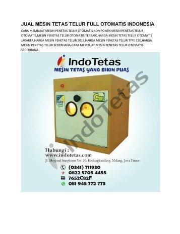MESAIN PENETAS TERLUR OTOMATIS -0822-5705-4455