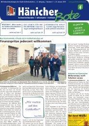 Hänicher Bote - Ausgabe 01 - Jahrgang 2019
