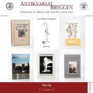 Antikvariat Bryggen - Katalog 109 - Varia for samlere