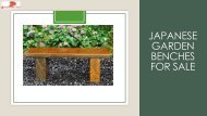 Japanese garden benches for sale