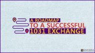 A Roadmap To A Successful 1031 Exchange