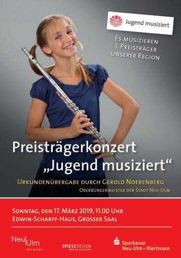 Jugend Musiziert Preisträgerkonzert 2019, Neu-Ulm