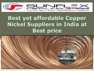 Best yet affordable Copper Nickel Suppliers in India at Best price-converted