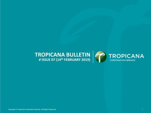 Tropicana Bulletin Issue 07, 2019