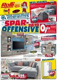 Spar-Offensive 2019 bei Rolli SB-Möbelmarkt in 65604 Elz