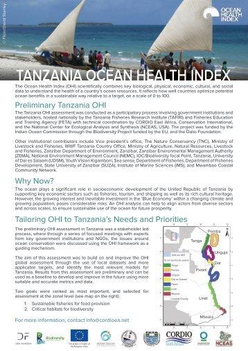 OHI+ Tanzania_Brief_2018