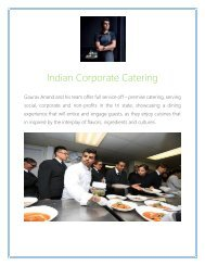Best Indian Corporate Catering Service