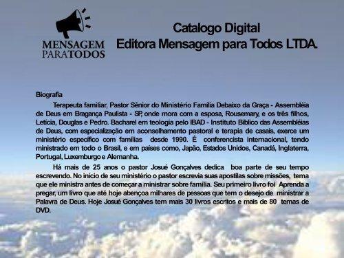 Catalogo Editora Mensagem para Todos