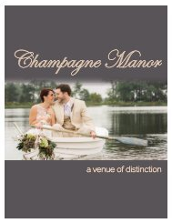 Champagne Manor E-Brochure 2019 - FOR AT HOME PRINTING