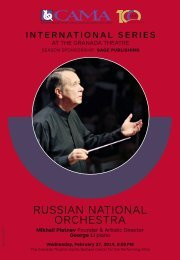 Russian National Orchestra—February 27, 2019—CAMA's International Series at The Granada Theatre, Santa Barbara