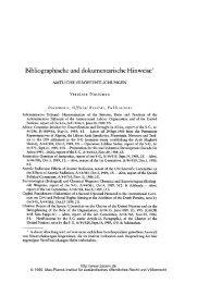 Bibliographische und dokumentarische Hinweise - Zeitschrift für ...