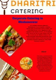 Corporate Catering in Bhubaneswar