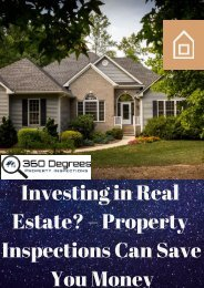 Investing in Real Estate? – Property Inspections Can Save You Money