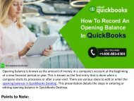 How to Enter or Record the Opening Balance in QuickBooks
