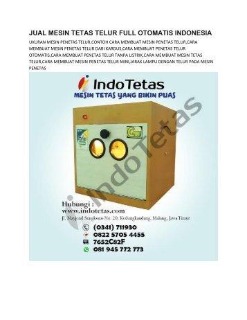 MESIN PENETAS TELUR ITIK SEDERHANA -0822-5705-4455