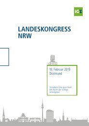 Tagungsmappe iGZ-Landeskongress NRW 2019