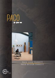 PACO CORK PARKETT PACO DESIGN PARKETT