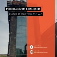 Programm 2019 // Dampfgebläsehaus Bochum