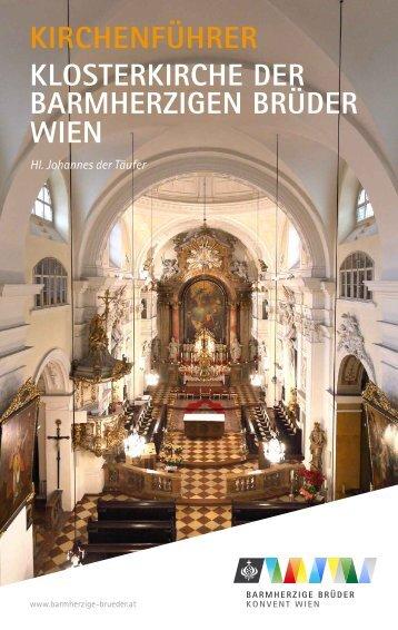 Kirchenführer der Klosterkirche der Barmherzigen Brüder Wien