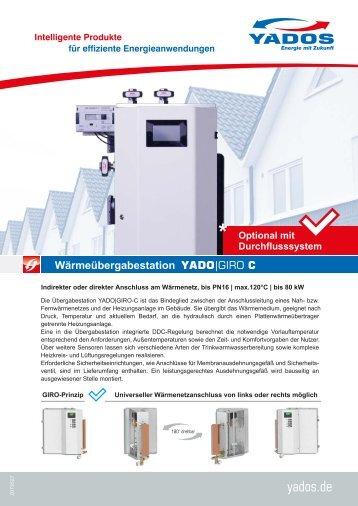 Kompakte Wärmeübergabestation YADO|GIRO C, optional mit Trinkwassererwärmer (Durchflusssystem / Frischwassersystem)