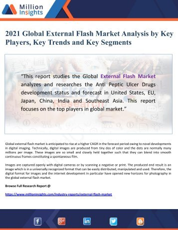 2021 Global External Flash Market Analysis by Key Players, Key Trends and Key Segments