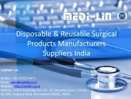 Medilin Surgical Products Manufacturers and Suppliers. Medilin is  one of the leading Indian manufacturer of Disposable Gown, Reusable Surgical Products, Surgical Gowns.