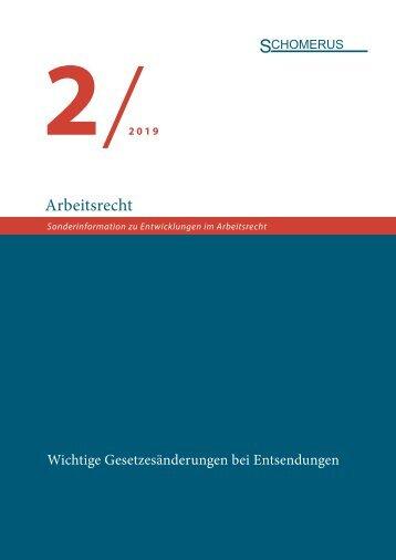 Sonderinformation Arbeitsrecht 2/19 Entsendungen