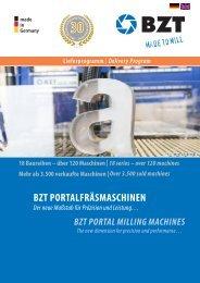 BZT CNC Lieferprogramm