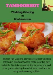 Wedding Catering in Bhubaneswar