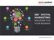 Internet Marketing Services India-PAAM Systems