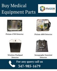 Buy Medical Equipment Parts