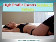 Hire High Profile Escorts in Kolkata