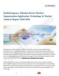 Radiofrequency Ablation Device Market: Segmentation Application, Technology & Market Analysis Report 2018-2026