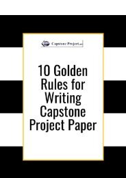 10 Golden Rules for Writing Capstone Project Paper