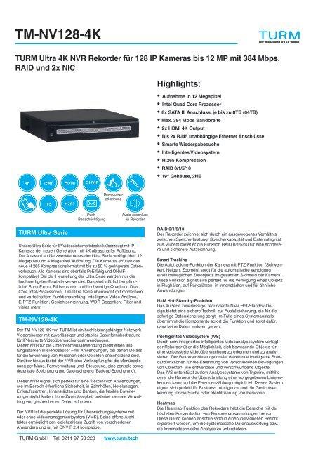 TM-NV128-4K  Datenblatt