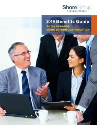 Shore Group Benefits Guide 2019